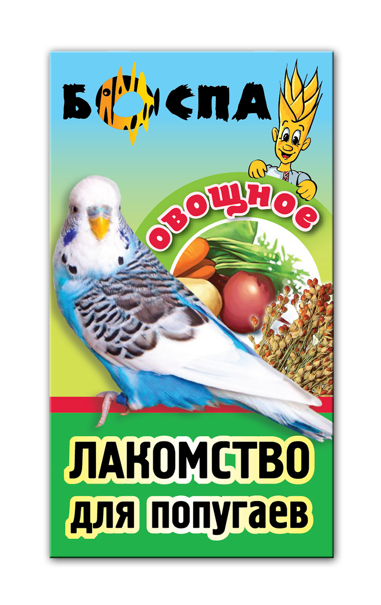 Лакомство для попугаев с овощами 3 в 1 Боспа Груша, 100 г101246Лакомство для попугаев с овощами 3 в 1 Боспа Груша - это дополнение к полнорационному корму. Для птиц в повседневном питании нужен вкусный, но сбалансированный полезный корм, который обеспечит им получение всех жизненно важных питательных веществ.Пропугаи получают необходимую энергию через полноценное питание, становятся веселыми и игривыми, радуют хозяев здоровой и блестящей шерстью Корм Боспа привлекателен для птиц неотразимым вкусом и запахом, и любим даже теми, кто со всей тщательностью подходит к выбору пищи. Состав: просо белое, просо красное, овес, суданка, сафлор, сухие овощи, витамины А, В1, В2, В6, D, PP, йод в легкоусвояемой форме.