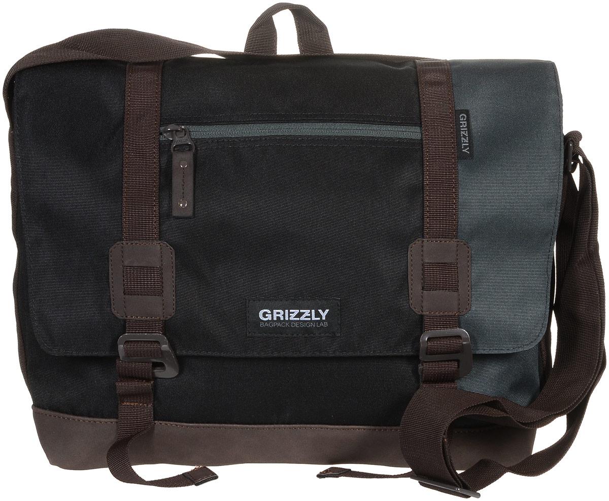 Сумка молодежная Grizzly, цвет: черный, серый, коричневый, 14 л. ММ-619-3/47292Молодежная сумка Grizzly изготовлена из высококачественного плотного текстиля. Дно уплотнено материалом из экокожи. Сумка имеет одно отделение, которое закрывается на клапан с застежками-крючками, регулируемыми по высоте, и застежку-молнию. Внутри сумки расположен карман для ноутбука или планшета, а также вшитый карман на застежке-молнии.Снаружи, с фронтальной стороны сумки есть один прорезной карман на застежке-молнии и два открытых кармашка. На клапане также располагается прорезной карман на застежке-молнии, и с тыльной стороны - боковой карман на застежке-молнии. Изделие оснащено дополнительной ручкой-петлей и регулируемым плечевым ремнем.Самовыражение - одна из базовых потребностей современного человека. Оригинальные, яркие, остромодные рюкзаки от Grizzly наилучшим образом подчеркнут вашу креативность, индивидуальность и неповторимый стиль!