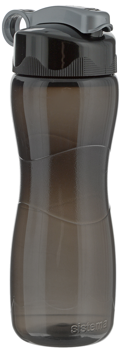 Бутылка для воды Sistema Hourglass, цвет: черный, 645 млVT-1520(SR)Бутылка для воды Sistema Hourglass изготовлена из прочного пищевого пластика без содержания фенола и других вредных примесей. Бутылка оснащена специальной крышкой, которая предотвращает проливание жидкости и позволяет удобно пить напитки. С такой бутылкой Вы сможете где угодно насладиться Вашими любимыми напитками. Специальное кольцо позволяет присоединить ее на рюкзак. Высота бутылки: 22,5 см.