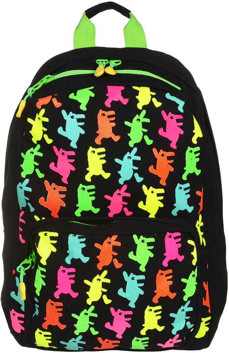 Рюкзак молодежный Grizzly, цвет: черный, 18 л. RD-743-1/41000400478Молодежный рюкзак выполнен из высококачественного брезента из ярким и красочным принтом. В рюкзаке расположено одно основное отделение, которое закрывается на круговую застежку-молнию с двумя бегунками. Внутри рюкзака есть мягкий карман для планшета с дополнительным вшитым карманом на застежке-молнии.Снаружи, с фронтальной стороны расположен объемный карман на застежке-молнии. Сверху рюкзак дополнен прорезным карманом на застежке-молнии. Рюкзак оснащен укрепленной спинкой, дополнительной ручкой-петлей, широкими лямками, которые регулируются по длине.Самовыражение - одна из базовых потребностей современного человека. Оригинальные, яркие, остромодные рюкзаки от Grizzly наилучшим образом подчеркнут вашу креативность, индивидуальность и неповторимый стиль!