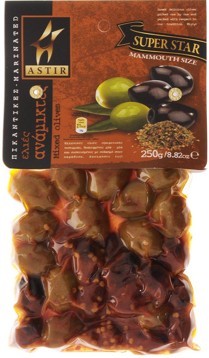 Astir Ассорти оливок пикантное, 250 г24Пикантное ассорти Astir состоит из обычных зеленых оливок и оливок из региона Каламата. Это уникальное сочетание подарит неповторимый вкус вашим блюдам.