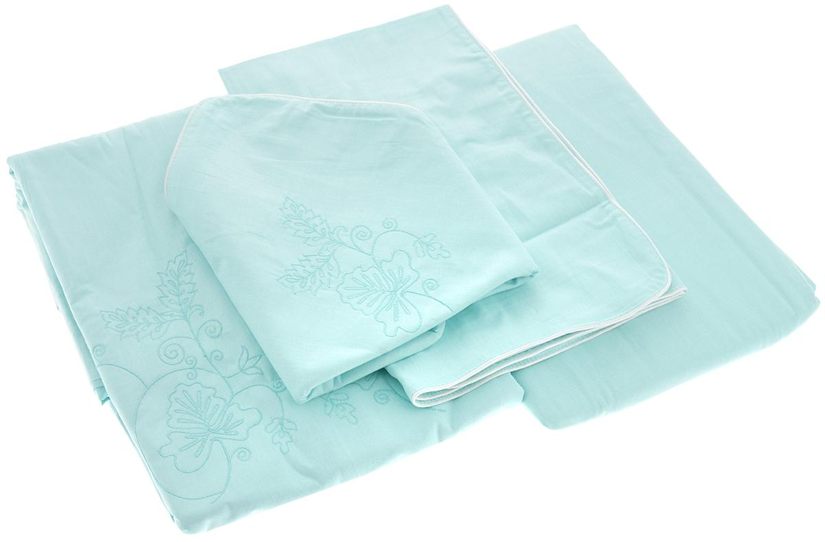 Комплект белья Гаврилов-Ямский Лен, 2-спальный, наволочки 70х70, цвет: бирюзовый89056Комплект постельного белья Гаврилов-Ямский Лен, выполненный из 100% хлопка и оформленный изящной вышивкой, состоит из пододеяльника, простыни и двух наволочек.Хлопковая ткань является одной из гиппоаллергенных и прочных тканей, хорошо пропускает воздух, впитывает пары влаги, она мягкая, отлично стирается и гладится и плюс ко всему не такая дорогая, как натуральный шелк. Приобретая комплект постельного белья Гаврилов-Ямский Лен, вы можете быть уверены в том, что покупка доставит вам и вашим близким удовольствие и подарит максимальный комфорт.