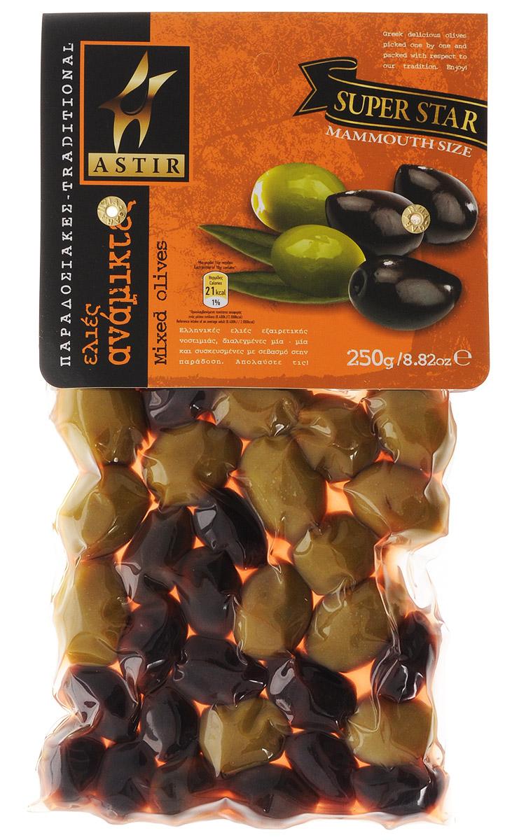Astir Ассорти оливок традиционное, 250 г0120710Традиционное ассорти Astir состоит из обычных зеленых оливок и оливок из региона Каламата. Это уникальное сочетание подарит неповторимый вкус вашим блюдам.