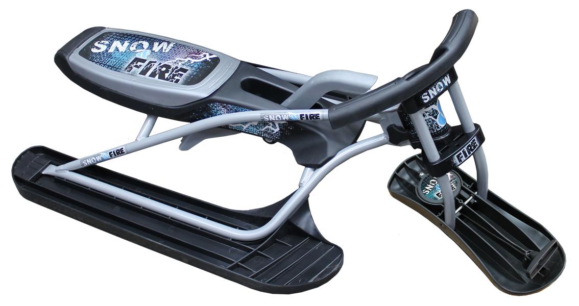 Снегокат складной Цикл Снегоцикл. Snow&Fire, с рулеткой для шнура21662Складной управляемый снегоцикл с лебедкой. Габариты в собранном виде: 113см х 60см х 36см Габариты в разобранном виде: 87см х 23см х 46см . Максимальная нагрузка 100 кг, Вес 7,2 кг. Возраст: 6+