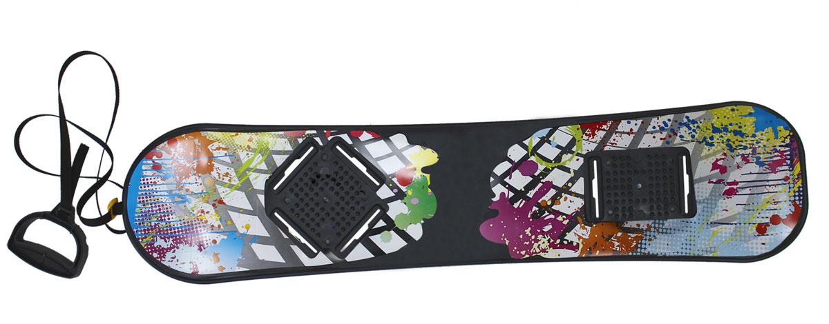 Сноускейт Цикл, 95х22,5 см231_002Доска сноуборда без крепления с ручкой на тесьме. Размер доски: 950х225 мм. Нагрузка не более 70кг, Возраст: 10+
