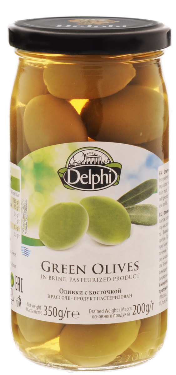 Delphi Оливки с косточкой в рассоле, 350 г51.0005,1Зеленые оливки Delphi с косточкой – это идеальный способ поразить ваше гастрономическое воображение. Наполните их своим любимым ингредиентом или поэкспериментируйте с новыми сочетаниями, начиная с сыра с плесенью и заканчивая копченой индейкой, и откройте для себя целую плеяду вкусов. Эти оливки идеальны для салатов, пиццы и закусок. Они законсервированы в натуральном рассоле для более длительного хранения.