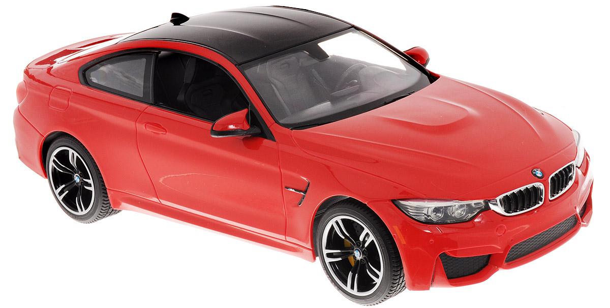 """Радиоуправляемая модель Rastar """"BMW M4 Coupe"""" обязательно привлечет внимание взрослого и ребенка и понравится любому, кто увлекается автомобилями. Корпус автомобиля выполнен из пластика с использованием металлических элементов, колеса - из резины. Маневренная и реалистичная уменьшенная копия выполнена в точной детализации с настоящим автомобилем в масштабе 1:14. Управление машинкой происходит с помощью пульта. Машина двигается вперед и назад, поворачивает направо, налево. Имеются световые эффекты. Колеса игрушки обеспечивают плавный ход, машинка не портит напольное покрытие. Радиоуправляемые игрушки способствуют развитию координации движений, моторики и ловкости. Ваш ребенок часами будет играть с моделью, придумывая различные истории и устраивая соревнования. Порадуйте его таким замечательным подарком! Модель автомобиля работает от 5 батареек напряжением 1,5V типа АА (не входят в комплект). Пульт управления работает от батарейки 9V типа """"Крона"""" (не входит в..."""