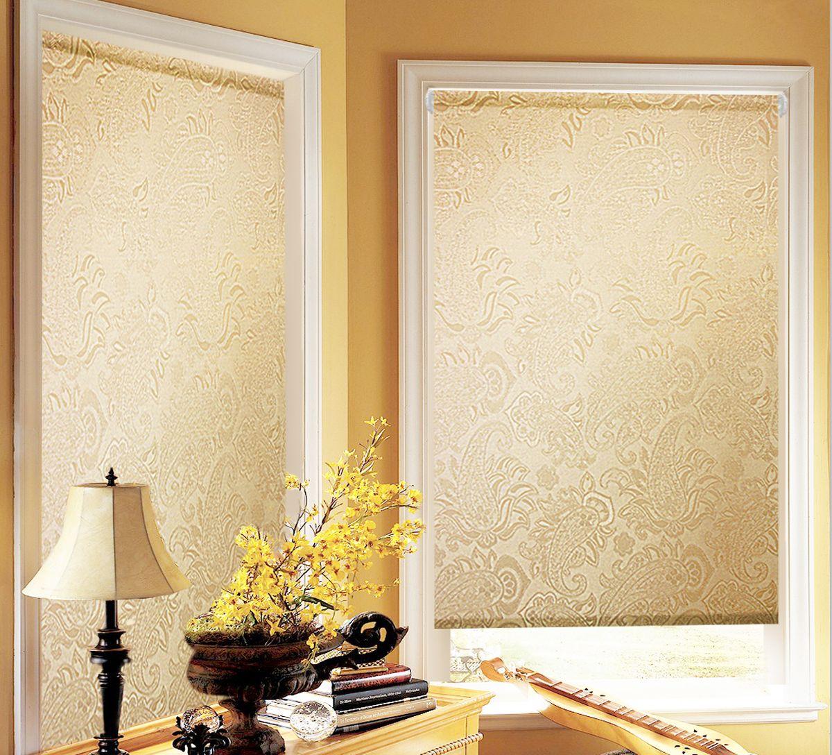 Штора рулонная для балконной двери Эскар Миниролло. Арабеска, фактурная, цвет: капучино, ширина 52 см, высота 215 см2615S545JBРулонная штора Эскар Миниролло. Арабеска выполнена из высокопрочной ткани, которая сохраняет свой размер даже при намокании. Ткань не выцветает и обладает отличной цветоустойчивостью.Миниролло - это подвид рулонных штор, который закрывает не весь оконный проем, а непосредственно само стекло. Такие шторы крепятся на раму без сверления при помощи зажимов или клейкой двухсторонней ленты. Окно остается на гарантии, благодаря монтажу без сверления. Такая штора станет прекрасным элементом декора окна и гармонично впишется в интерьер любого помещения.