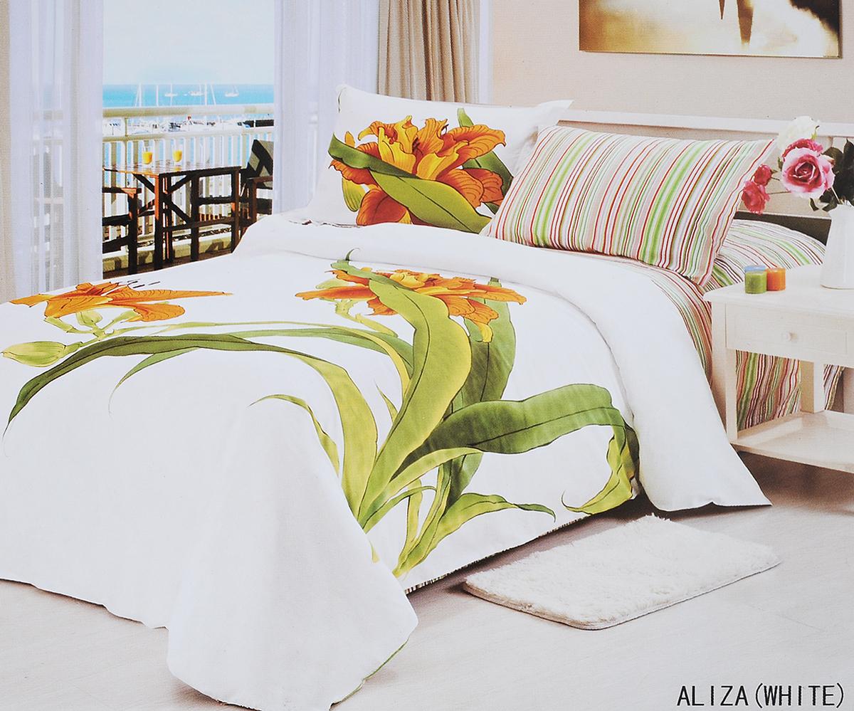 Комплект белья Le Vele Aliza, 2-спальный, наволочки 50х70391602Комплект постельного белья Le Vele Aliza, выполненный из сатина (100% хлопка), создан для комфорта и роскоши. Комплект состоит из пододеяльника, простыни и 4 наволочек. Постельное белье оформлено оригинальным рисунком. Пододеяльник застегивается на кнопки, что позволяет одеялу не выпадать из него.Сатин - хлопчатобумажная ткань полотняного переплетения, одна из самых красивых, прочных и приятных телу тканей, изготовленных из натурального волокна. Благодаря своей шелковистости и блеску сатин называют хлопковым шелком. Приобретая комплект постельного белья Le Vele Aliza, вы можете быть уверены в том, что покупка доставит вам и вашим близким удовольствие и подарит максимальный комфорт.