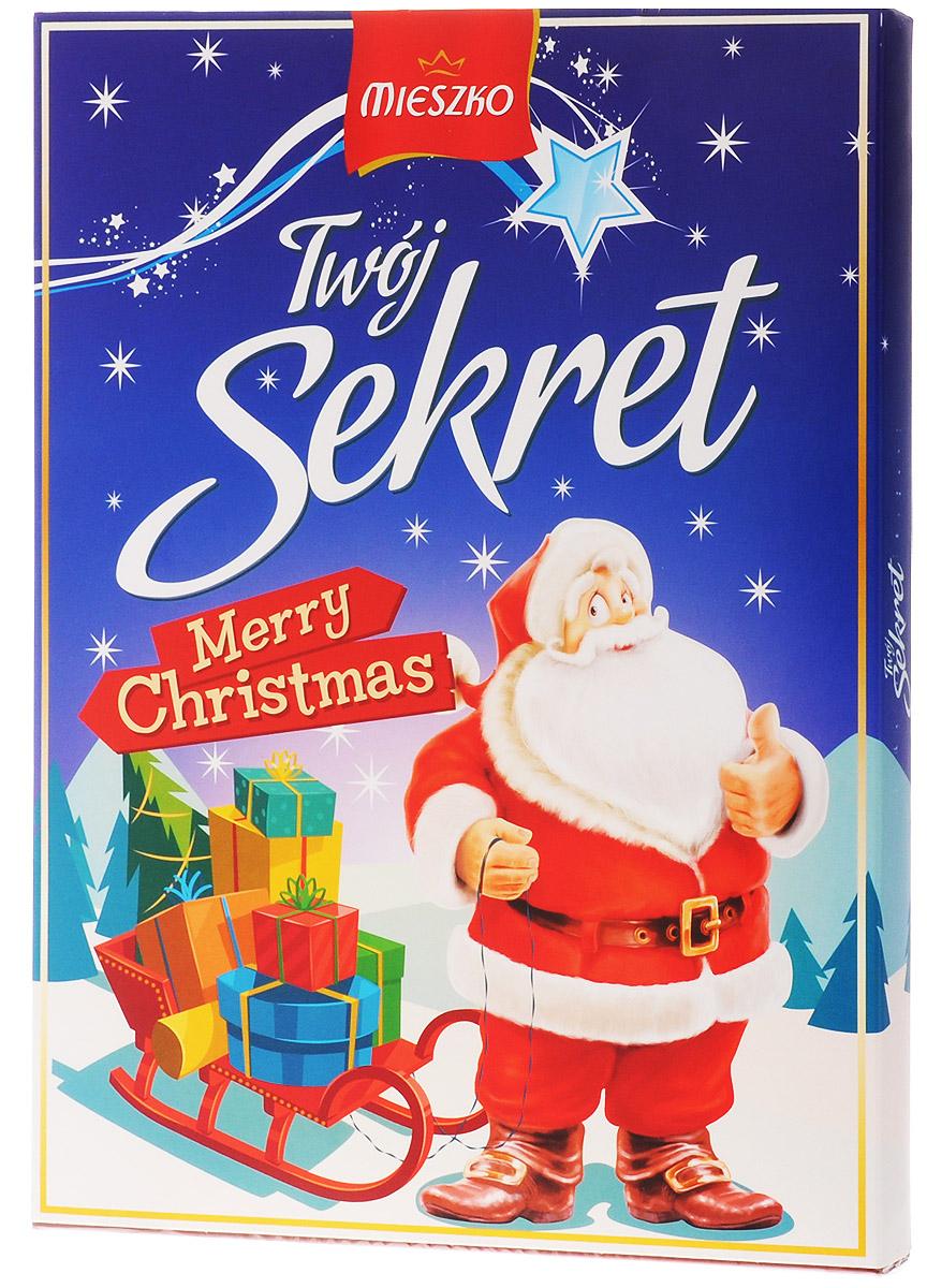 Mieszko Твой Секрет набор шоколадных конфет, 324 г1410111Шоколадные конфеты с начинкой Mieszko Твой Секрет - ассорти в десертном и молочном шоколаде, которое состоит из 6 вкусов и займет достойное место как на праздничном столе, так и как повседневное лакомство к чаю.
