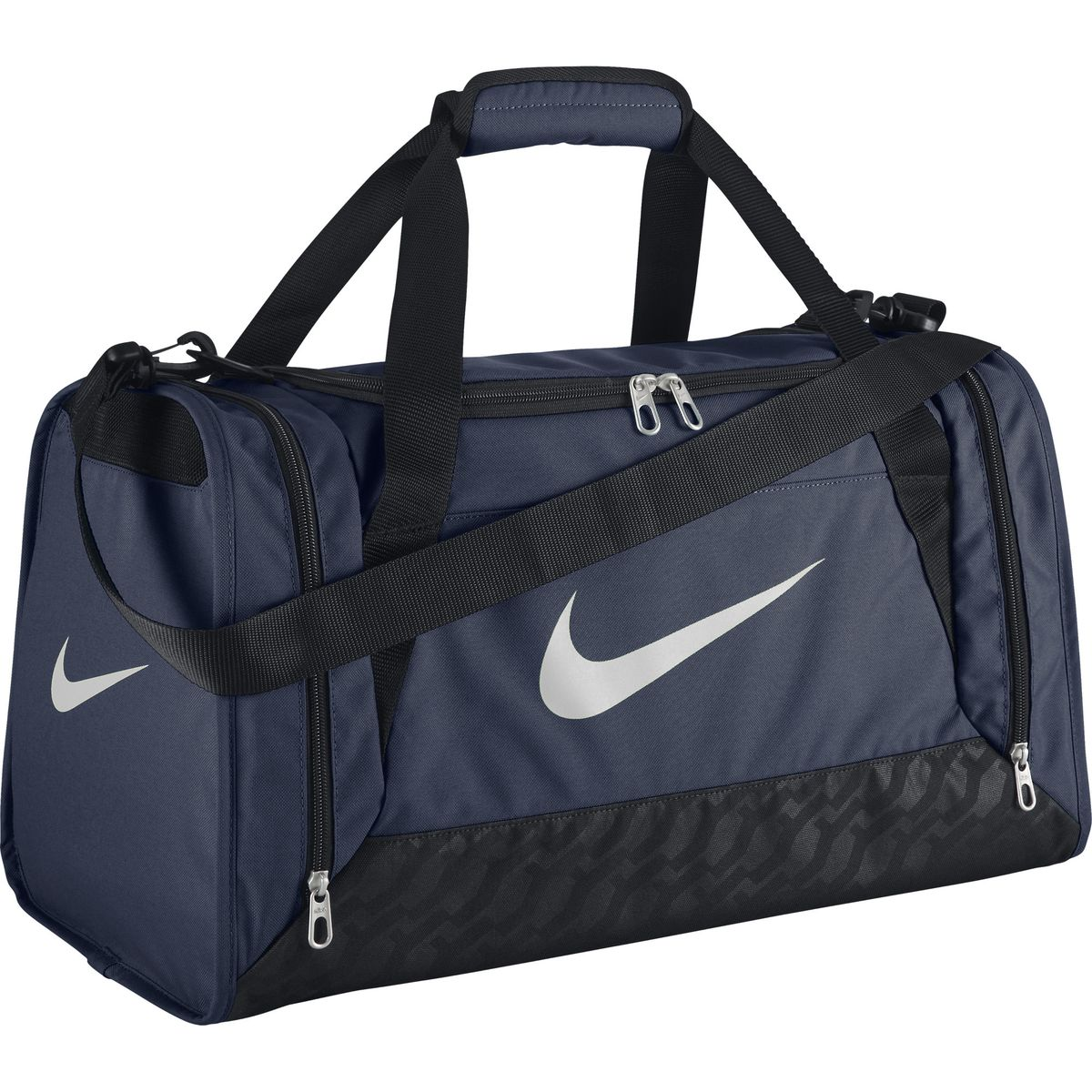 Сумка спортивная Nike Brasilia 6 Small Duffel, цвет: темно-синий, 44,4 л