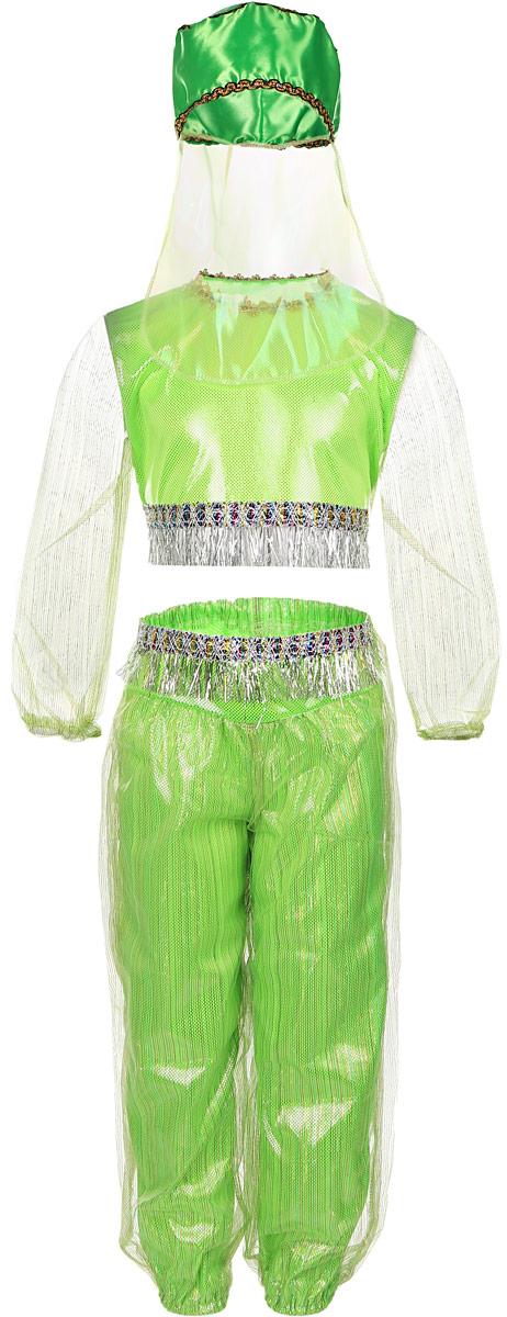 Карнавалия Карнавальный костюм для девочки Шахерезада цвет салатовый размер 110 - Карнавальные костюмы и аксессуары
