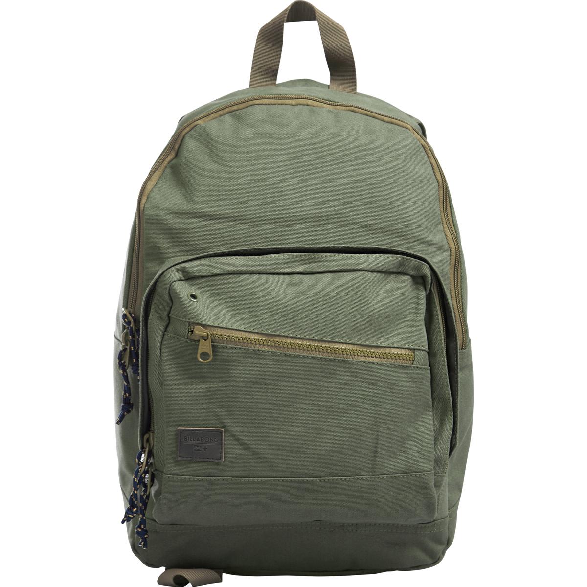 Рюкзак городской Billabong Laneway Canvas, цвет: оливковый, 23 л. Z5BP08MABLSEH10001Вместительный и практичный рюкзак из 100% хлопка. Два внеших внеших кармана для мелочей, в онсновном отделение кармана для ноутбука.