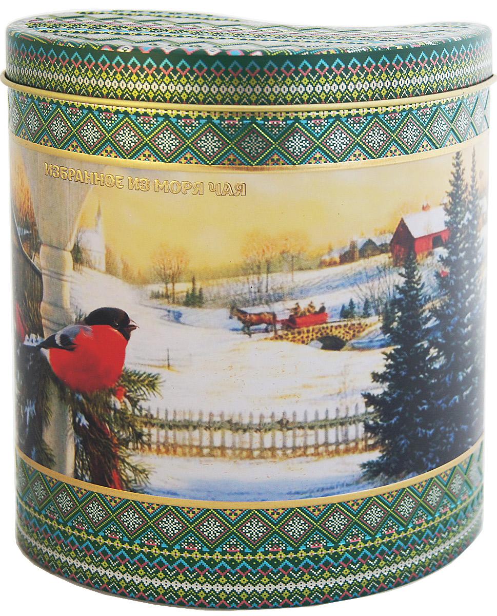 Избранное из моря чая Новый Год Зимний узор. Снегирь на закате чай зеленый листовой, 75 г4792156000725Жестяная баночка в форме капли из коллекции Зимний узор покрыта матовым лаком. Она содержит зеленый листовой чай, в состав которого входят только самые молодые и лучшие листочки чайного куста. Поэтому этот чай имеет особый мягкий сладковатый вкус и аромат настоящего зеленого чая и оказывает благотворное влияние на организм.Напиток упакован в пачки из фольги в Шри-Ланке сразу после сбора урожая, в период созревания чая, когда он наполнен полезными веществами и эфирными маслами. Знак в виде Льва с 17 пятнышками на шкуре - это гарантия Бюро Цейлонского Чая на соответствие чая высокому стандарту качества, установленному правительством и упакованному только в пределах Шри-Ланки.