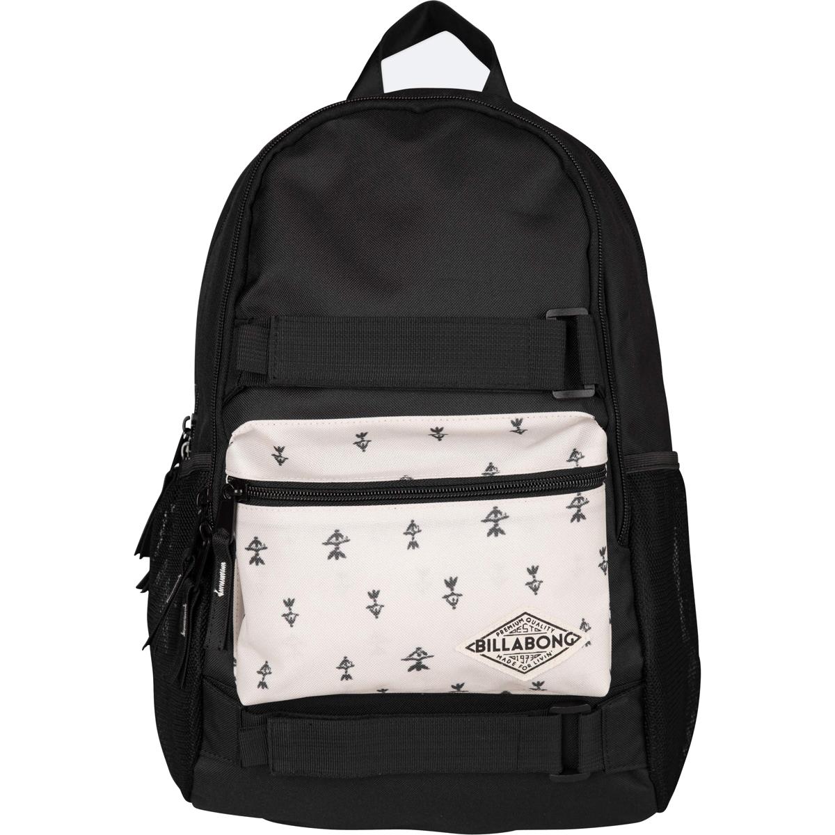 Рюкзак городской Billabong Crew, цвет: черный, 20 л. Z9BP02Z90 blackФункциональный городской рюкзак, выполненный из износостойких материалов, готовый служить Вам долгое время, сохраняя презентабельный внешний вид. Два вместительных отсека с карманом для ноутбука, а также внешний карман на молнии для мелочей. Крепления для скейта и боковые сетчатые карманы.