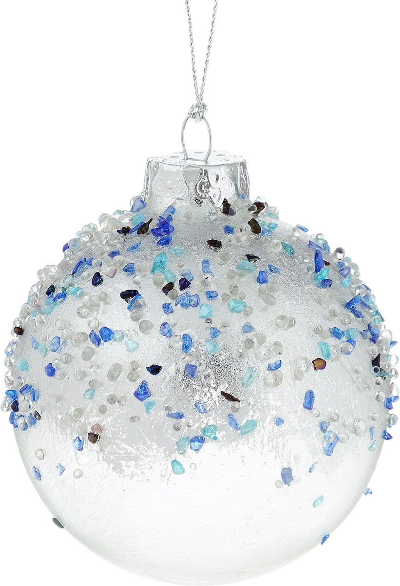 Украшение новогоднее подвесное Winter Wings Шар, диаметр 8 см. N079105NLED-454-9W-BKНовогоднее подвесное украшение Winter Wings Шар выполнено из стекла в виде шара. С помощью специальной петельки украшение можно повесить в любом понравившемся вам месте. Но, конечно, удачнее всего оно будет смотреться на праздничной елке.Елочная игрушка - символ Нового года. Она несет в себе волшебство и красоту праздника. Создайте в своем доме атмосферу веселья и радости, украшая новогоднюю елку нарядными игрушками, которые будут из года в год накапливать теплоту воспоминаний.