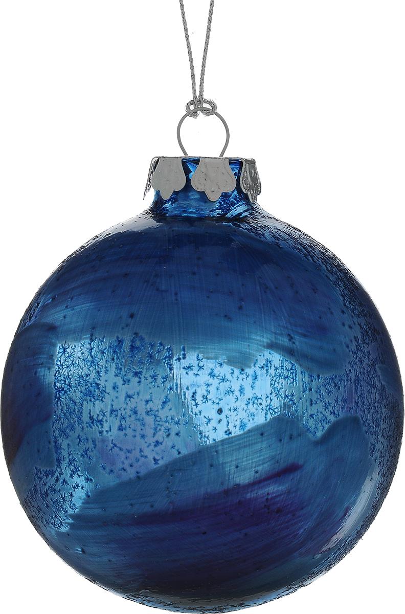 Украшение новогоднее подвесное Winter Wings Шар, диаметр 8 см. N07910320112044Новогоднее подвесное украшение Winter Wings Шар выполнено из стекла в виде шара. С помощью специальной петельки украшение можно повесить в любом понравившемся вам месте. Но, конечно, удачнее всего оно будет смотреться на праздничной елке.Елочная игрушка - символ Нового года. Она несет в себе волшебство и красоту праздника. Создайте в своем доме атмосферу веселья и радости, украшая новогоднюю елку нарядными игрушками, которые будут из года в год накапливать теплоту воспоминаний.