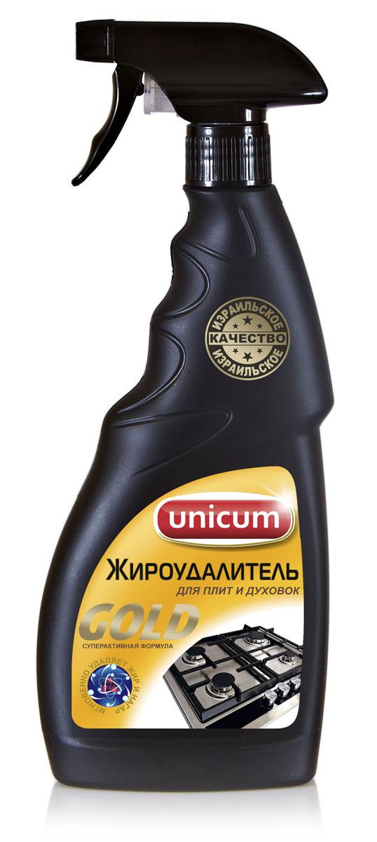 Жироудалитель Unicum Gold, 500 млS03301004Жироудалитель Unicum Gold - особое средство для мгновенного удаления самых стойкихзастарелых и подгоревших масложировых загрязнений, нагара, копоти с поверхностей кухонныхплит, духовых шкафов, грилей, кастрюль, сковородок, пароуловителей, кафельной плитки, в томчисле и с охлажденных поверхностей.Состав: очищенная вода, менее 5% НПАВ, 5-15% щелочные (алкальные) компоненты, 5-15%растворители, менее 5% функциональные добавки, менее 5% краситель.Товар сертифицирован.Уважаемые клиенты! Обращаем ваше внимание на возможные изменения в дизайне упаковки. Качественные характеристики товара остаются неизменными. Поставка осуществляется в зависимости от наличия на складе.