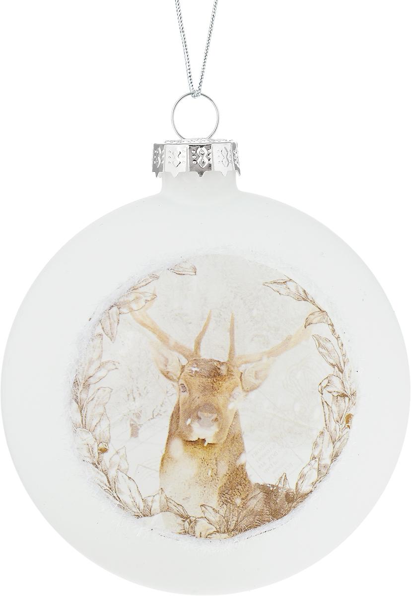 Украшение новогоднее подвесное Winter Wings Диск. Олень, диаметр 8 см. N07992NLED-454-9W-BKНовогоднее подвесное украшение Winter Wings Диск. Олень выполнено из стекла в виде диска с изображением оленя. С помощью специальной петельки украшение можно повесить в любом понравившемся вам месте. Но, конечно, удачнее всего оно будет смотреться на праздничной елке.Елочная игрушка - символ Нового года. Она несет в себе волшебство и красоту праздника. Создайте в своем доме атмосферу веселья и радости, украшая новогоднюю елку нарядными игрушками, которые будут из года в год накапливать теплоту воспоминаний.