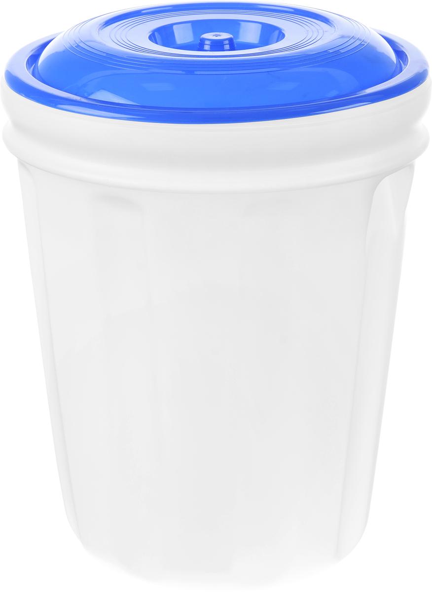 Бак Альтернатива, цвет: белый, синий, 40 л19964Бак Альтернатива, изготовленный из прочного пищевого пластика, предназначен для транспортировки и хранения пищевых жидкостей. Изделие безопасно для здоровья, герметично, устойчиво к ударам, легко очищается и не сохраняет нежелательных запахов. Имеет широкое удобное отверстие, которое закручивается крышкой, а для удобства переноски имеются встроенные ручки. Изделие можно использовать на дачных участках для хранения поливочной воды, компоста, в качестве емкости для сыпучих строительных материалов.Высота бака: 51 см.