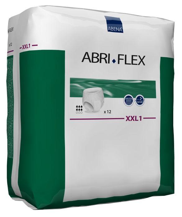 Abena Подгузники для взрослых Abri-Flex XXL1 дневные+ 12 шт 300517300517Подгузники Abri-Flex XXL1 - продукты серии Abri-Flex могут использоваться в качестве нижнего белья, обеспечивая свободу движения. Abri-Flex удерживается на бедрах за счет увеличенного количества эластичных нитей по сравнению с другими аналогичными продуктами.Подгузники-шортики Abri-Flex Special обладает уникальной эластичностью, которая обеспечивает точную посадку в области ног и паха, и является идеальным решением для физически активных людей, а также для тех, кому не подходят традиционные трусики pull-up.Преимущества подгузников для взрослых Abri- Flex:- мягкий пояс надежно и деликатно удерживает подгузник на месте,- превращают жидкость в гель, запирая запах изнутри,- имеют цветной сегментированный индикатор намокания,- гарантируют сухость за счет инновационной технологии быстрого впитывания слоя 3D DualCore,- сделаны из гипоаллергенных экологически чистых материалов,- впитываемость: более 1450 млAbena постоянно инвестирует в новые технологии. В 2014 году мы установили оборудование, которое позволяет нам производить подгузник Abri-Flex нового поколения с запатентованной воздухопроницаемостью. Теперь дышащей является вся поверхность подгузника, а не только его рабочая зона.Новый Abri-Flex имеет слой 3D DualCore, который обеспечивает максимальную степень влагопоглощения именно там, где это необходимо. Также подгузник оснащен новой улучшенной системой TopDry, которая обеспечивает сухость, и благодаря которой подгузник идеально прилегает к телу.На данный момент Abena - единственный производитель, который использует данную уникальную технологию.