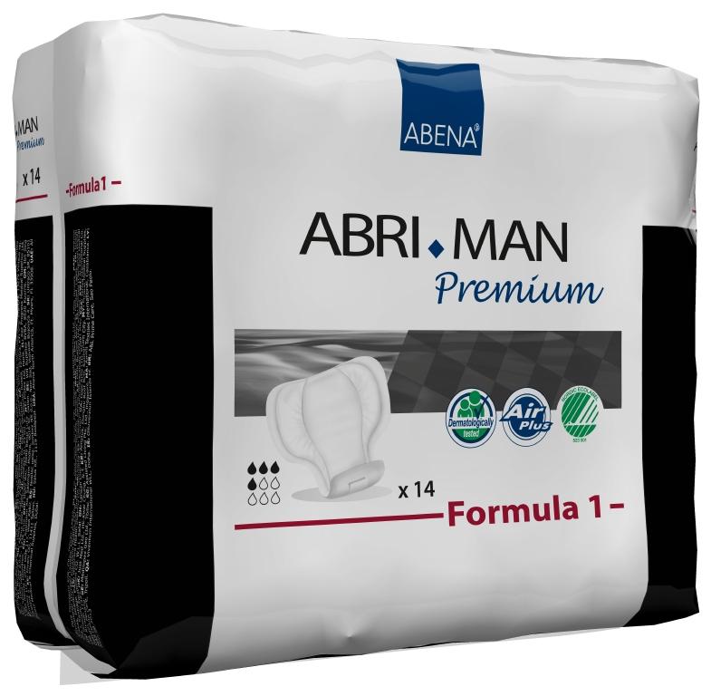 Abena Прокладки урологические мужские Abri-Man Formula 1 14 шт 41006CF5512F4Мужские прокладки Abena Abri-Man Formula 1 - помогут множеству мужчин, которые страдают от недержания в том или ином виде. Abri-Man предлагает решения, позволяющие вести полноценную активную жизнь.Преимущества вкладышей и прокладок Abri-Man:- специально для мужчин,- превращают жидкость в гель, запирая запах изнутри,- гарантированная сухость за счет инновационной технологии быстрого впитывания,- гипоаллергенные экологически чистые материалы,- экономичны благодаря системе «2-в-1».- впитываемость: более 450 млAbri-Man Formula 1, 2 максимальная защита от протекания благодаря уникальным бортикам в форме кармашков, расположенным по длине прокладки, оптимальный комфорт и безопасность за счет особой формы, соответствующей мужской анатомии, прокладка с самоклеющимися полосками может использоваться в сочетании с плотно прилегающим нижним бельем или, в идеале, со специально разработанным фиксирующим бельем Abri-Fix.