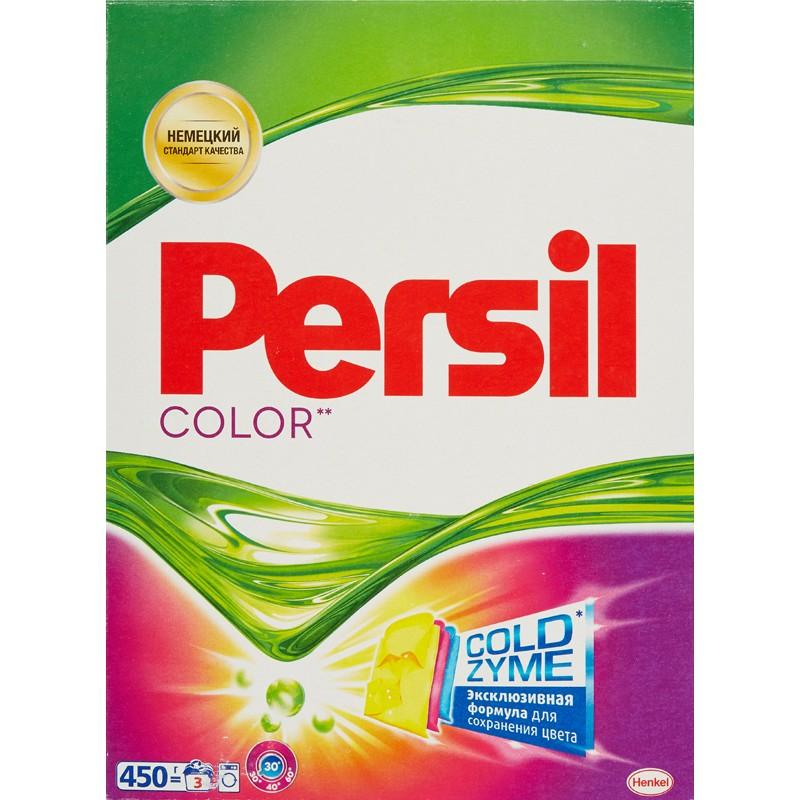 Стиральный порошок Persil Color, 450 гGC013/00Persil Color - стиральный порошок с сильной формулой, которая содержит активные капсулы пятновыводителя. Капсулы пятновыводителя быстро растворяются в воде и начинают действовать на пятно уже в самом начале стирки.Благодаря специальной формуле Persil Color отлично удаляет даже сложные пятна, а специальные цветозащитные компоненты сохраняют яркие цвета ткани.Persil Color для безупречной чистоты Вашего белья.Состав: 5-15% анионные ПАВ;Товар сертифицирован.