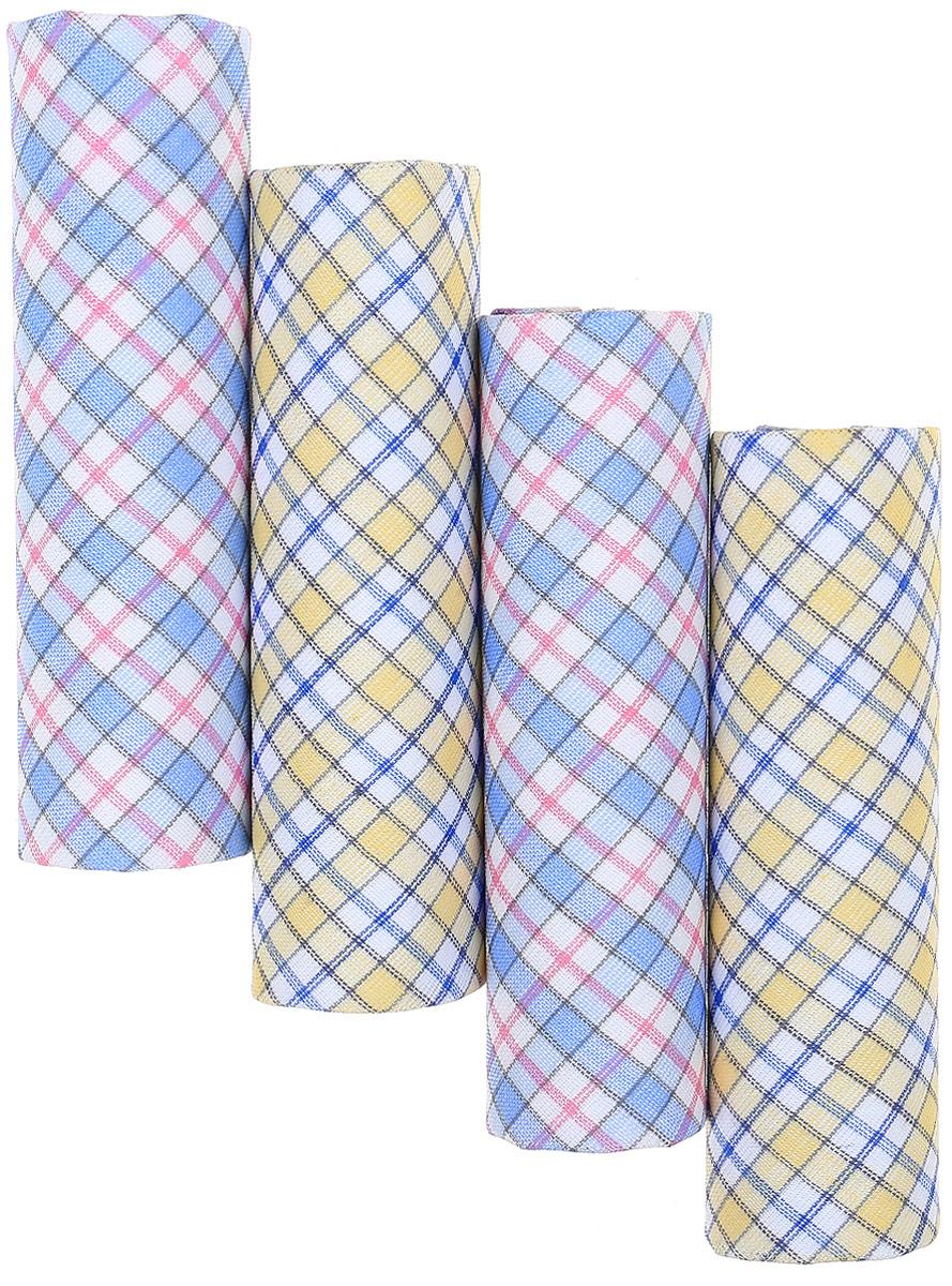 Носовой платок женский Zlata Korunka, цвет: мультиколор, 4 шт. 71420. Размер 28 х 28 см39864|Серьги с подвескамиЖенские носовые платки Zlata Korunka изготовлены из натурального хлопка, приятны в использовании, хорошо стираются, материал не садится и отлично впитывает влагу.В упаковке 4 штуки.