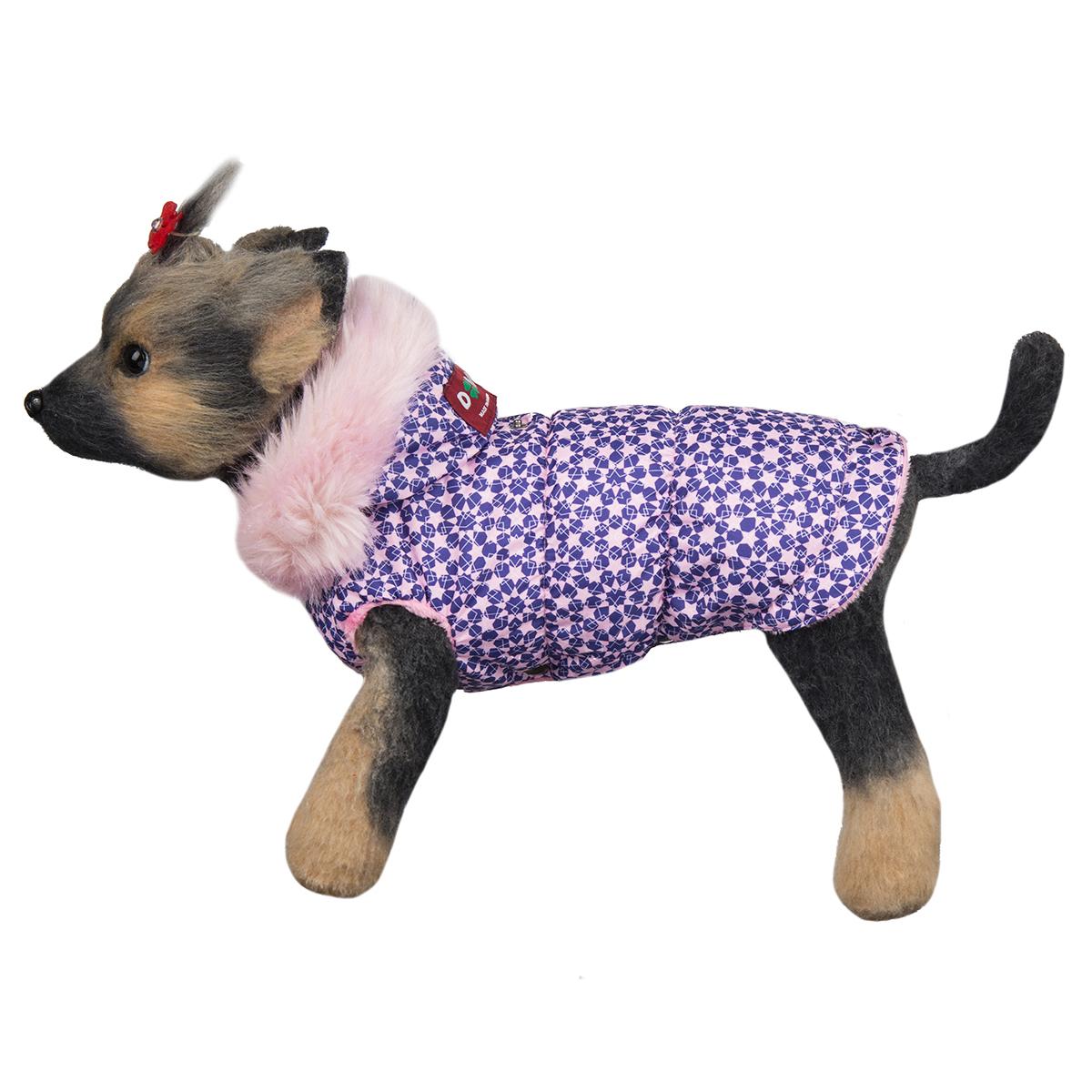 Куртка для собак Dogmoda Аляска, для девочки. Размер 3 (L)0120710Куртка для собак Dogmoda Аляска изготовлена из полиэстера водоотталкивающего типа. Для подкладки был использован синтепон и искусственный мех. Изделие легко одевается и снимается, не доставляя неприятных минут хозяину и его питомцу. Технология пошива аляски не стесняет движений и позволяет весело бегать наперегонки с четвероногими друзьями. Непрерывный теплообмен обеспечивает сохранение свежести кожного покрова, который у маленьких собачек особенно чувствителен и уязвим. Светлые, мягкие и яркие тона аляски будут гармонировать с веселостью и подвижностью домашнего любимца на прогулке. Одежда надежно защитит собачку от пронизывающей зимней стужи и позволит от души наслаждаться свежим снегом и длительным пребыванием на прогулке в морозный день.