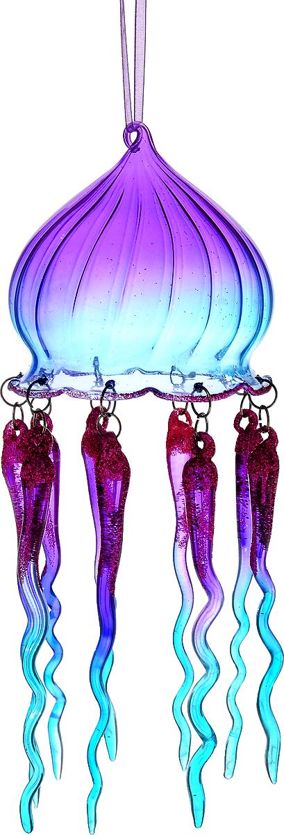 Украшение новогоднее подвесное Winter Wings Медуза, высота 21 смNLED-454-9W-BKНовогоднее подвесное украшение Winter Wings Медуза выполнено из стекла в виде медузы и украшено блестками. С помощью специальной петельки украшение можно повесить в любом понравившемся вам месте. Но, конечно, удачнее всего оно будет смотреться на праздничной елке.Елочная игрушка - символ Нового года. Она несет в себе волшебство и красоту праздника. Создайте в своем доме атмосферу веселья и радости, украшая новогоднюю елку нарядными игрушками, которые будут из года в год накапливать теплоту воспоминаний.