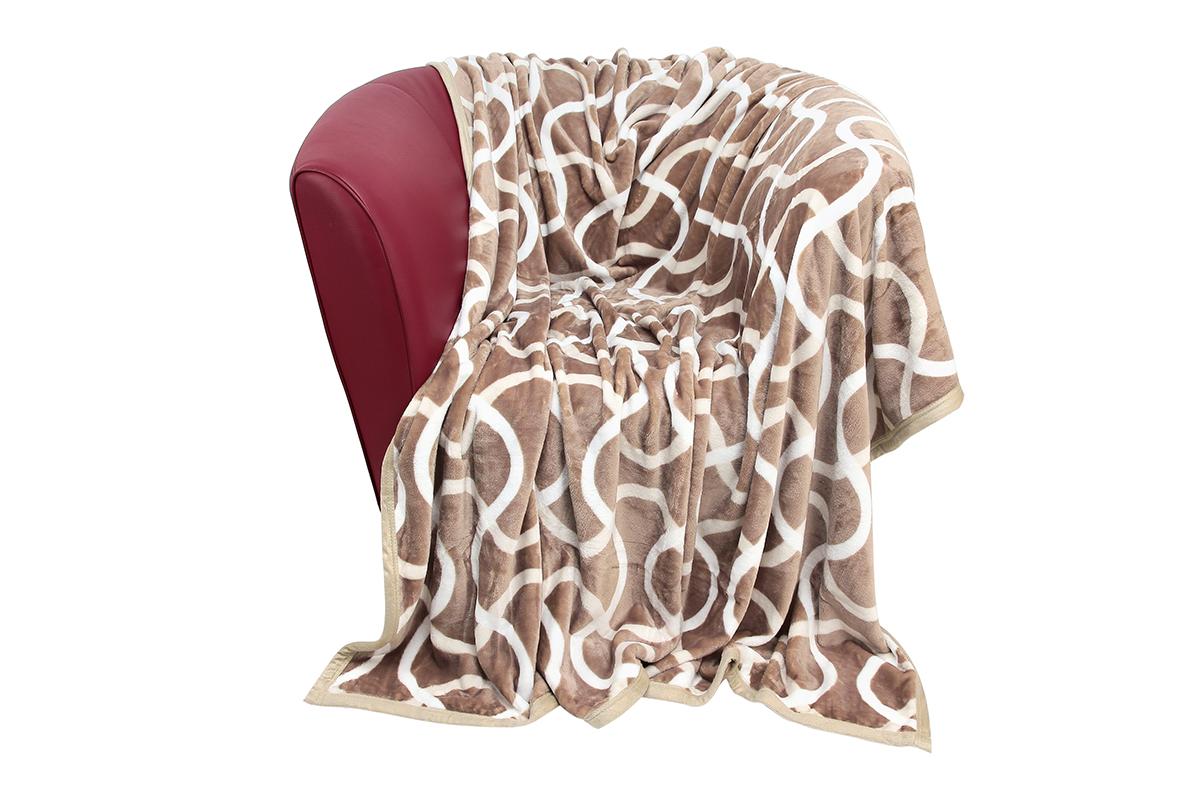 Плед EL Casa Волны, 180 х 200 смES-412Уютный, легкий и прочный плед в оригинальном дизайне послужит украшением декора вашей комнаты и согреет вас и ваших близких.Устойчив к истиранию и скатыванию, не мнется, не деформируется, сохранит первоначальный вид даже при активном использовании и многочисленных стирках. Такой плед идеален в качестве подарка на любой праздник. Изделие в подарочной сумке с ручками.Плотность - 320 г/м2.