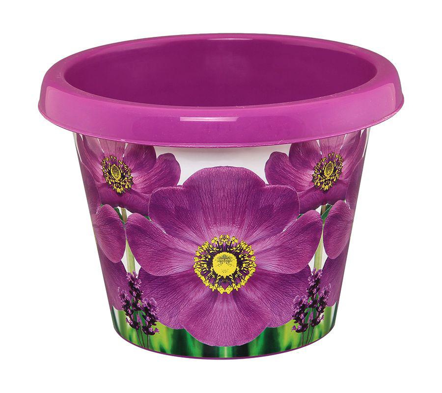 Кашпо Violet Фиалка, с дренажной системой, 4 л531-401Круглое кашпо Violet Фиалка изготовлено из высококачественного пластика и оснащено дренажной системой для быстрого отведения избытка воды при поливе. Изделие прекрасно подходит для выращивания растений и цветов в домашних условиях. Объем: 4 л.