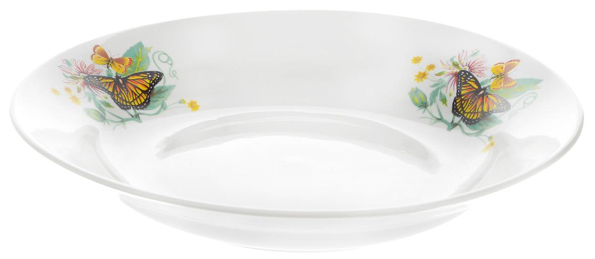 Тарелка глубокая Фарфор Вербилок Бабочки, диаметр 23 см115510Глубокая тарелка Фарфор Вербилок Бабочки выполнена из высококачественного фарфора и украшена ярким рисунком. Она прекрасно впишется в интерьер вашей кухни и станет достойным дополнением к кухонному инвентарю. Тарелка Фарфор Вербилок Бабочки подчеркнет прекрасный вкус хозяйки и станет отличным подарком. Диаметр тарелки: 23 см.Высота тарелки: 4 см.