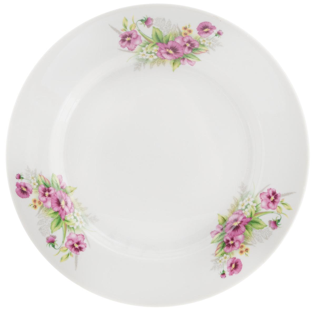 Тарелка десертная Фарфор Вербилок Виола, диаметр 20 см54 009312Десертная тарелка Фарфор Вербилок Виола, изготовленная из фарфора. Такая тарелка прекрасно подходит как для торжественных случаев, так и для повседневного использования. Идеальна для подачи десертов, пирожных, тортов и многого другого. Она прекрасно оформит стол и станет отличным дополнением к вашей коллекции кухонной посуды. Диаметр тарелки (по верхнему краю): 20 см.