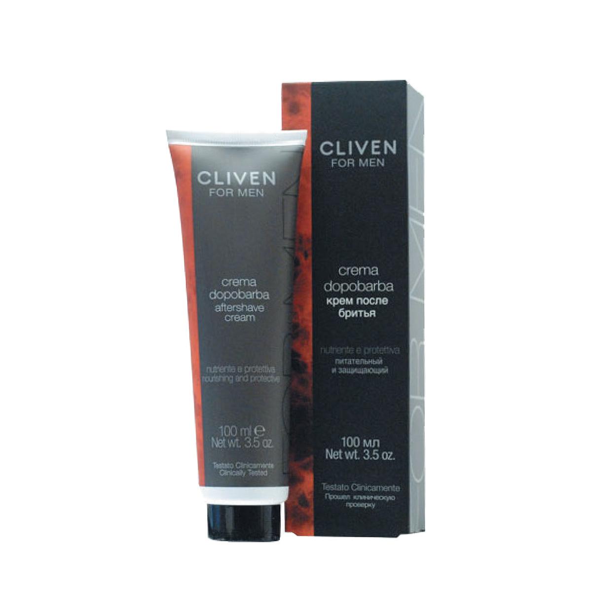 Cliven Крем после бритья 100млS2793105-1Содержит особую комбинацию натуральных экстрактов ментола, камфары и мяты. Уменьшает раздражение и покраснение, вызванное бритьем. Быстро впитывается в кожу, не оставляя жирного блеска.