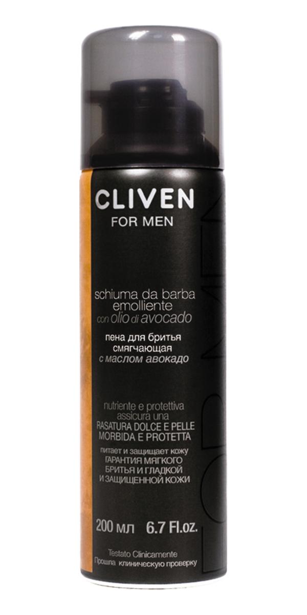 Cliven Пена для бритья смягчающая с маслом Авокадо 200мл721014Пена для бритья смягчающая с маслом Авокадо, которое содержит фитостиролы, лецитин и богато витаминами. Пена богата смягчающими веществами, обеспечивает тщательное бритье, предотвращает раздражение.
