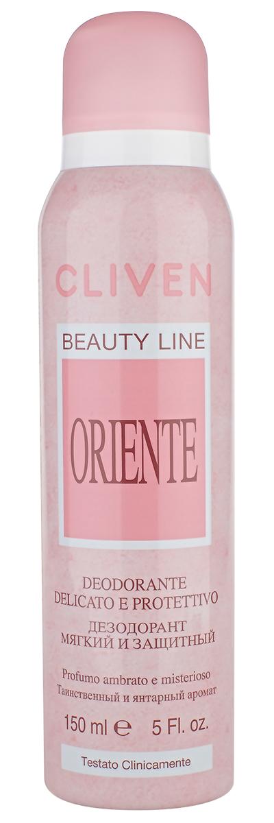 Cliven Женский дезодорант-спрей Восток 150млDB4010(DB4.510)/голубой/розовыйБлагодаря наличию активных антибактериальных компонентов устранеят неприятный запах и препятствует его образованию. Прошел клиническую проверку.