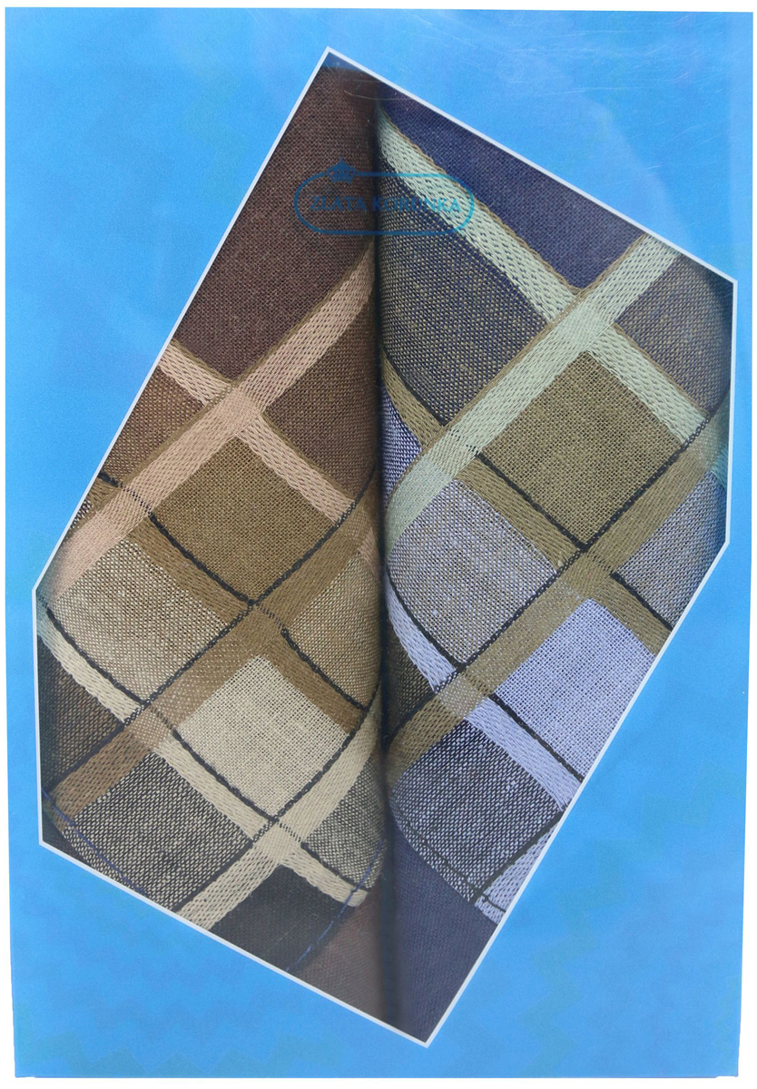 Платок носовой мужской Zlata Korunka, цвет: коричневый, синий, 2 шт. 40213-11. Размер 38 см х 38 смБрошь-кулонОригинальный мужской носовой платок Zlata Korunka изготовлен из высококачественного натурального хлопка, благодаря чему приятен в использовании, хорошо стирается, не садится и отлично впитывает влагу. Практичный и изящный носовой платок будет незаменим в повседневной жизни любого современного человека. Такой платок послужит стильным аксессуаром и подчеркнет ваше превосходное чувство вкуса.В комплекте 2 платка.