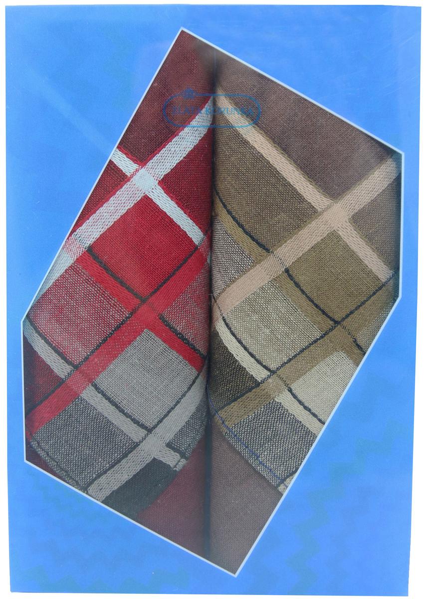 Платок носовой мужской Zlata Korunka, цвет: бордовый, коричневый, 2 шт. 40213-12. Размер 38 см х 38 см39864|Серьги с подвескамиОригинальный мужской носовой платок Zlata Korunka изготовлен из высококачественного натурального хлопка, благодаря чему приятен в использовании, хорошо стирается, не садится и отлично впитывает влагу. Практичный и изящный носовой платок будет незаменим в повседневной жизни любого современного человека. Такой платок послужит стильным аксессуаром и подчеркнет ваше превосходное чувство вкуса.В комплекте 2 платка.