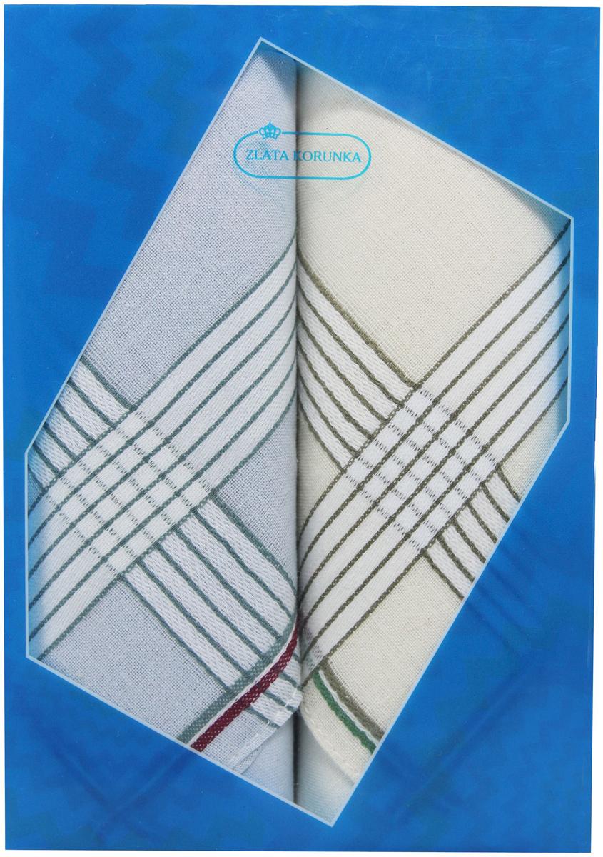 Платок носовой мужской Zlata Korunka, цвет: голубой, молочный, 2 шт. 40213-17. Размер 38 см х 38 смСерьги с подвескамиОригинальный мужской носовой платок Zlata Korunka изготовлен из высококачественного натурального хлопка, благодаря чему приятен в использовании, хорошо стирается, не садится и отлично впитывает влагу. Практичный и изящный носовой платок будет незаменим в повседневной жизни любого современного человека. Такой платок послужит стильным аксессуаром и подчеркнет ваше превосходное чувство вкуса.В комплекте 2 платка.