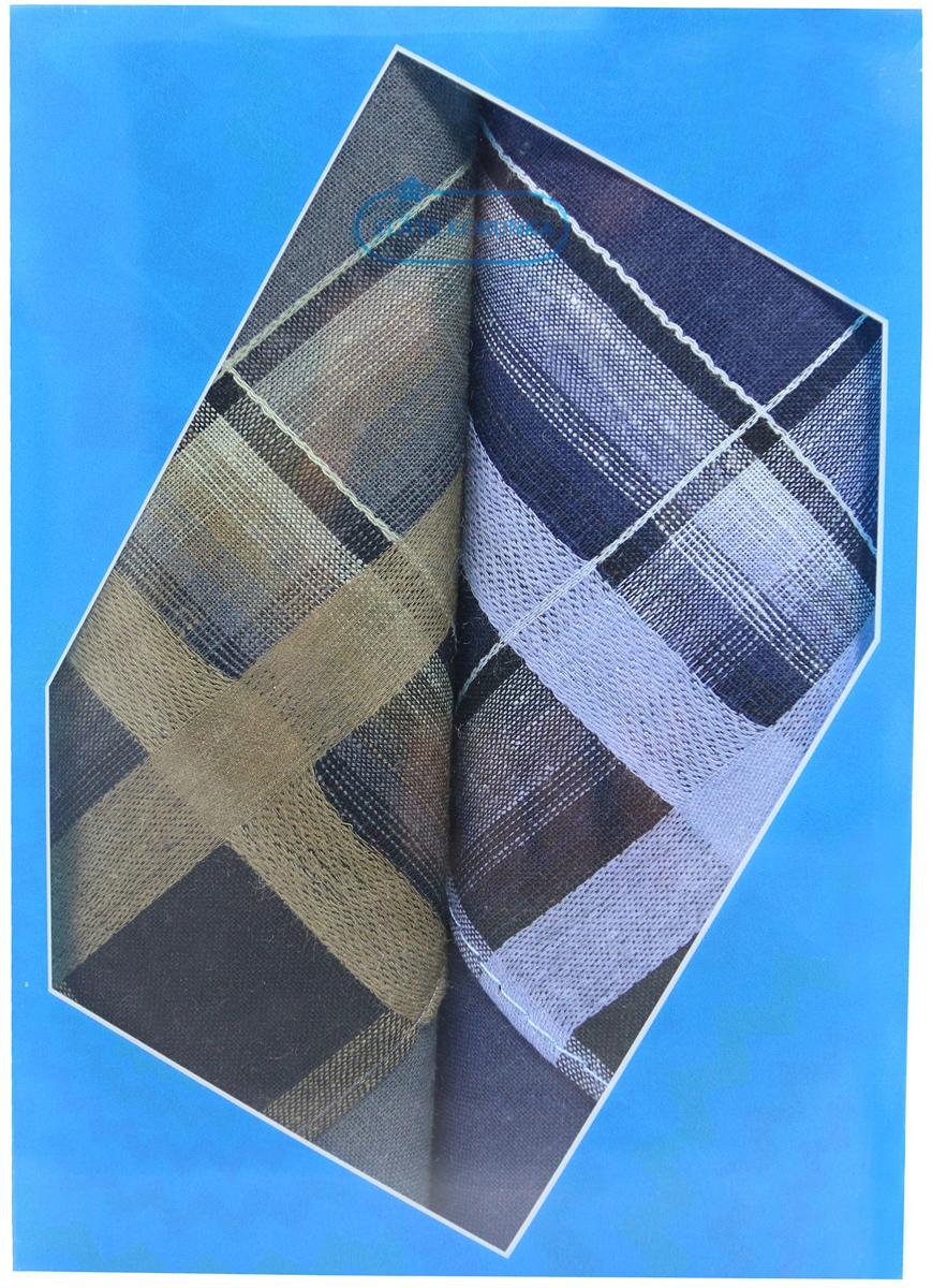 Платок носовой мужской Zlata Korunka, цвет: темно-зеленый, темно-синий, 2 шт. 40213-2. Размер 38 см х 38 см39864|Серьги с подвескамиОригинальный мужской носовой платок Zlata Korunka изготовлен из высококачественного натурального хлопка, благодаря чему приятен в использовании, хорошо стирается, не садится и отлично впитывает влагу. Практичный и изящный носовой платок будет незаменим в повседневной жизни любого современного человека. Такой платок послужит стильным аксессуаром и подчеркнет ваше превосходное чувство вкуса.В комплекте 2 платка.