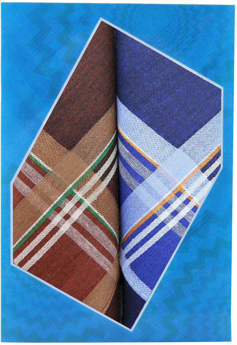 Платок носовой мужской Zlata Korunka, цвет: коричневый, синий, 2 шт. 40213-21. Размер 38 см х 38 см39864|Серьги с подвескамиОригинальный мужской носовой платок Zlata Korunka изготовлен из высококачественного натурального хлопка, благодаря чему приятен в использовании, хорошо стирается, не садится и отлично впитывает влагу. Практичный и изящный носовой платок будет незаменим в повседневной жизни любого современного человека. Такой платок послужит стильным аксессуаром и подчеркнет ваше превосходное чувство вкуса.В комплекте 2 платка.
