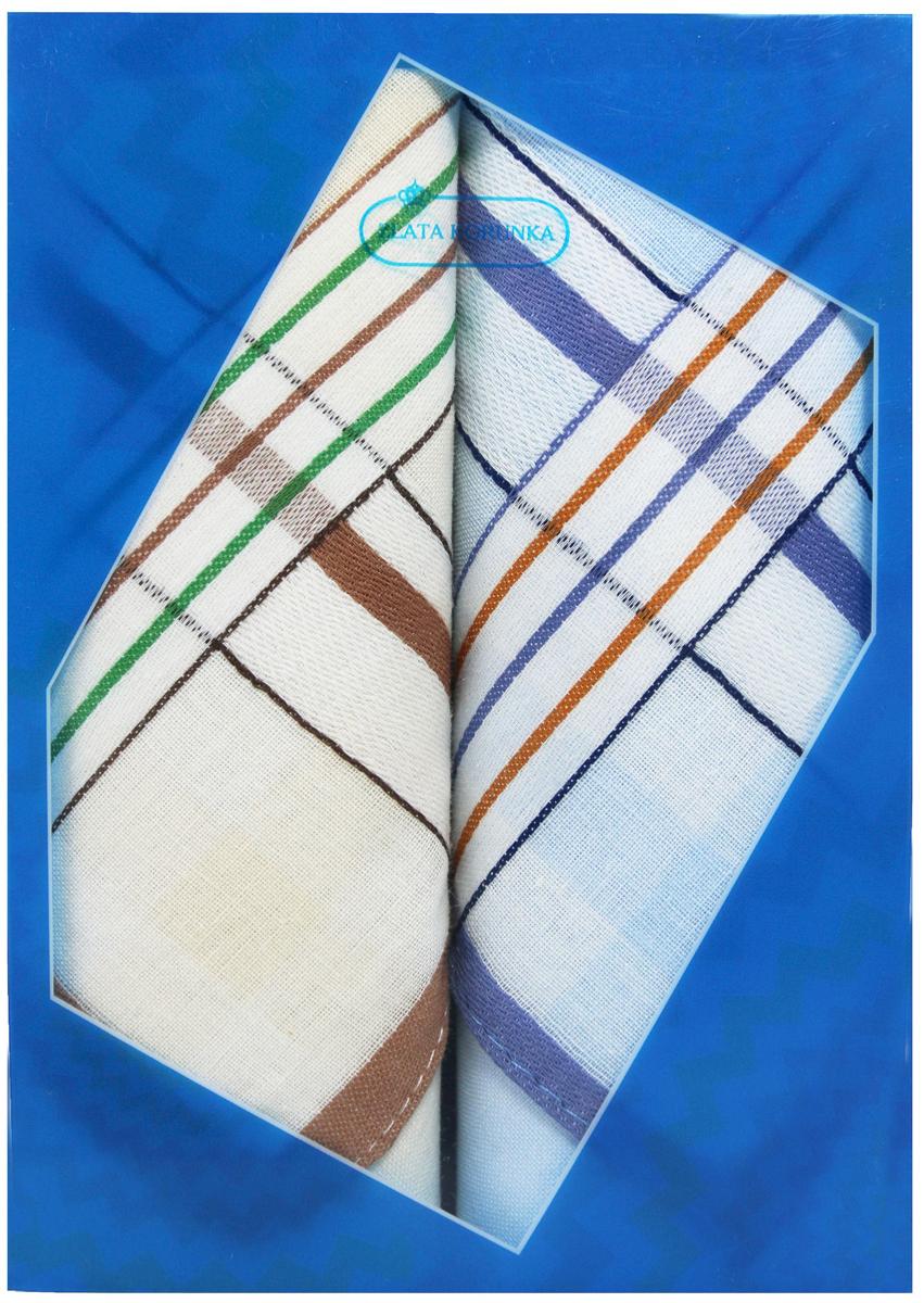 Платок носовой мужской Zlata Korunka, цвет: бежевый, голубой, 2 шт. 40213-23. Размер 38 см х 38 см39864|Серьги с подвескамиОригинальный мужской носовой платок Zlata Korunka изготовлен из высококачественного натурального хлопка, благодаря чему приятен в использовании, хорошо стирается, не садится и отлично впитывает влагу. Практичный и изящный носовой платок будет незаменим в повседневной жизни любого современного человека. Такой платок послужит стильным аксессуаром и подчеркнет ваше превосходное чувство вкуса.В комплекте 2 платка.