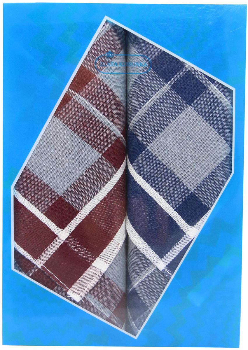 Платок носовой мужской Zlata Korunka, цвет: бордовый, темно-синий, 2 шт. 40213-5. Размер 38 см х 38 см39864|Серьги с подвескамиОригинальный мужской носовой платок Zlata Korunka изготовлен из высококачественного натурального хлопка, благодаря чему приятен в использовании, хорошо стирается, не садится и отлично впитывает влагу. Практичный и изящный носовой платок будет незаменим в повседневной жизни любого современного человека. Такой платок послужит стильным аксессуаром и подчеркнет ваше превосходное чувство вкуса.В комплекте 2 платка.