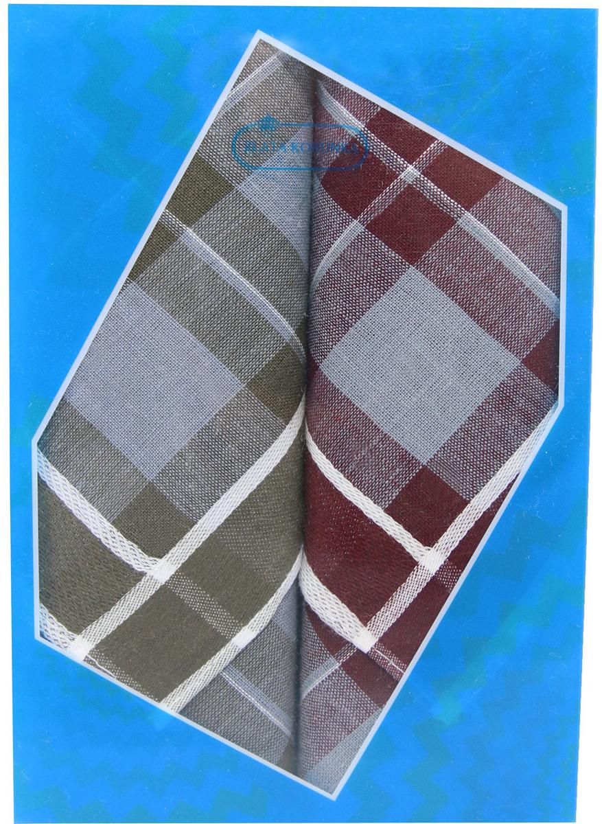 Платок носовой мужской Zlata Korunka, цвет: бордовый, темно-коричневый, 2 шт. 40213-6. Размер 38 см х 38 см39864 Серьги с подвескамиОригинальный мужской носовой платок Zlata Korunka изготовлен из высококачественного натурального хлопка, благодаря чему приятен в использовании, хорошо стирается, не садится и отлично впитывает влагу. Практичный и изящный носовой платок будет незаменим в повседневной жизни любого современного человека. Такой платок послужит стильным аксессуаром и подчеркнет ваше превосходное чувство вкуса.В комплекте 2 платка.