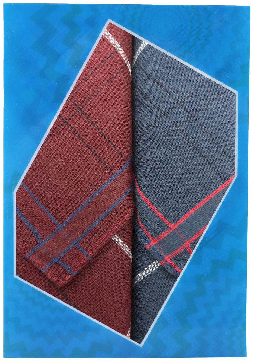 Платок носовой мужской Zlata Korunka, цвет: бордовый, темно-серый, 2 шт. 40213-7. Размер 38 см х 38 см39864|Серьги с подвескамиОригинальный мужской носовой платок Zlata Korunka изготовлен из высококачественного натурального хлопка, благодаря чему приятен в использовании, хорошо стирается, не садится и отлично впитывает влагу. Практичный и изящный носовой платок будет незаменим в повседневной жизни любого современного человека. Такой платок послужит стильным аксессуаром и подчеркнет ваше превосходное чувство вкуса.В комплекте 2 платка.