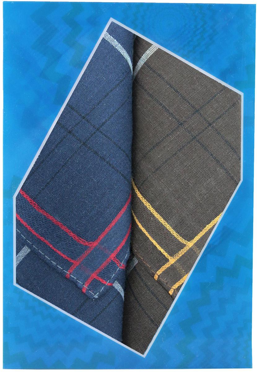 Платок носовой мужской Zlata Korunka, цвет: темно-синий, темно-коричневый, 2 шт. 40213-8. Размер 38 см х 38 см39864|Серьги с подвескамиОригинальный мужской носовой платок Zlata Korunka изготовлен из высококачественного натурального хлопка, благодаря чему приятен в использовании, хорошо стирается, не садится и отлично впитывает влагу. Практичный и изящный носовой платок будет незаменим в повседневной жизни любого современного человека. Такой платок послужит стильным аксессуаром и подчеркнет ваше превосходное чувство вкуса.В комплекте 2 платка.