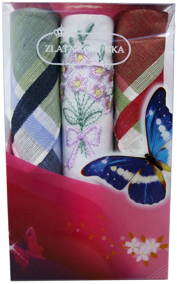 Платок носовой женский Zlata Korunka, цвет: зеленый, белый, красный, 3 шт. 40423-117. Размер 28 см х 28 см39864|Серьги с подвескамиНебольшой женский носовой платок Zlata Korunka изготовлен из высококачественного натурального хлопка, благодаря чему приятен в использовании, хорошо стирается, не садится и отлично впитывает влагу. Практичный и изящный носовой платок будет незаменим в повседневной жизни любого современного человека. Такой платок послужит стильным аксессуаром и подчеркнет ваше превосходное чувство вкуса.В комплекте 3 платка.