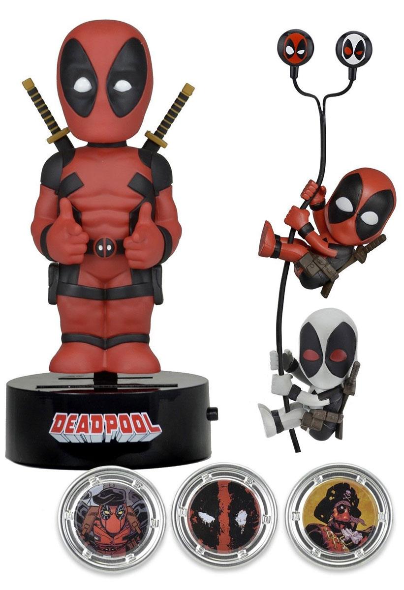 Marvel. Набор Deadpool (Фигурка на солнечной батарее, наушники, держатели проводов 2 шт), Neca Inc.