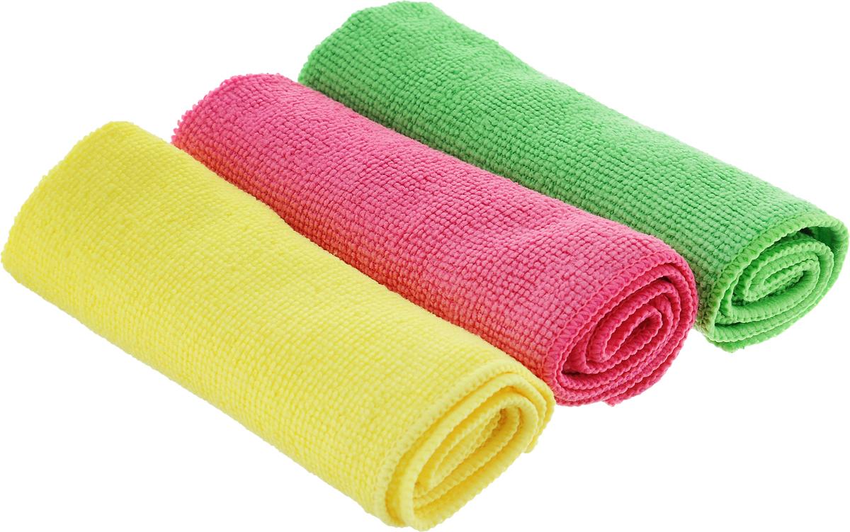 Набор салфеток для уборки Sol, из микрофибры, цвет: салатовый, желтый, розовый, 30 x 30 см, 3 шт10035_салатовый/желтый/розовыйНабор салфеток Sol выполнен из микрофибры.Микрофибра - это ткань из тонкихмикроволокон, которая эффективно очищаетповерхности благодаря капиллярному эффектумежду ними. Такая салфетка может использоватьсякак для сухой, так и для влажной уборки.Деликатно очищает любые поверхности, не оставляяследов и разводов. Идеально подходитдля протирки полированной мебели. Сохраняетсвои свойства после стирки.